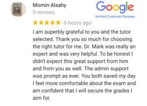 Google - verified customer review